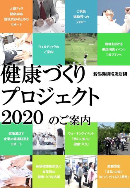 健康づくりプロジェクト2020表紙